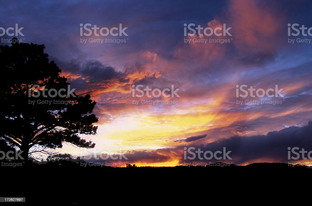 Summer Sunset in the Rockies royalty-free stock photo