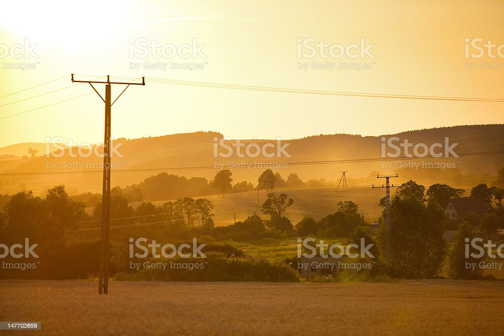 Summer sunset landscape royalty-free stock photo