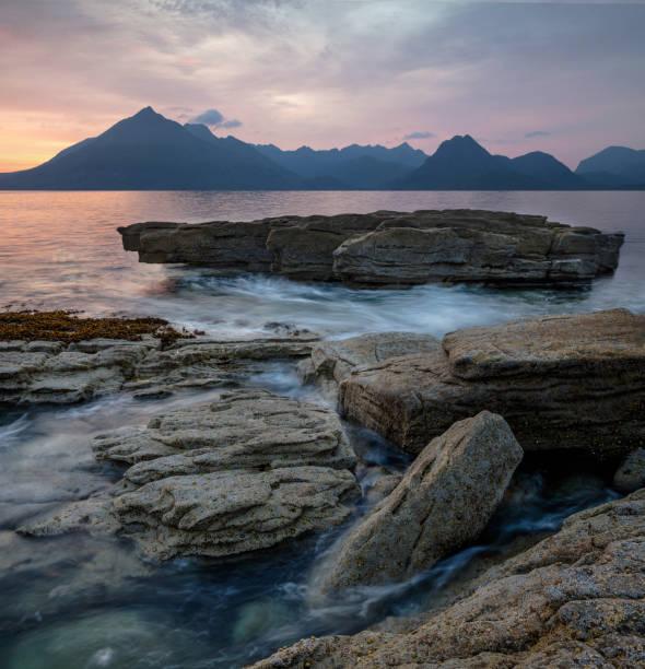 Summer Sunset on the Isle Of Skye. stock photo