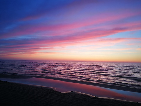 Summer sunset over the Baltic sea