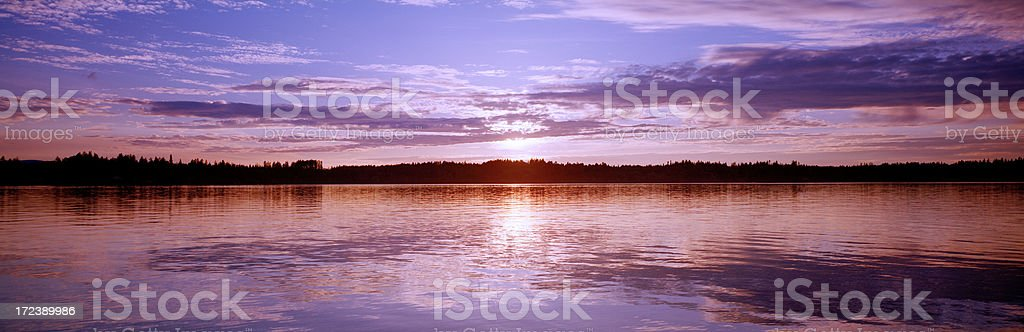Summer Sunset, South Puget Sound royalty-free stock photo