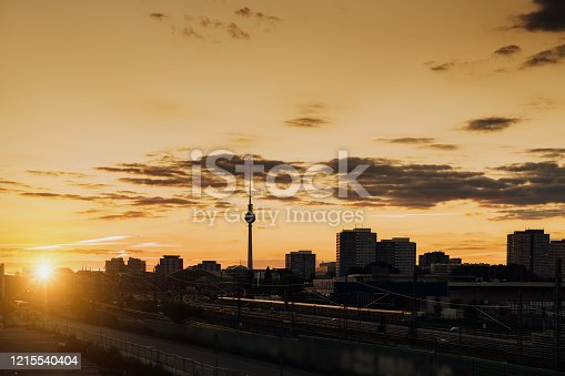Summer Sunset in Berlin, Germany