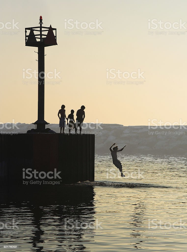 Summer swim stock photo