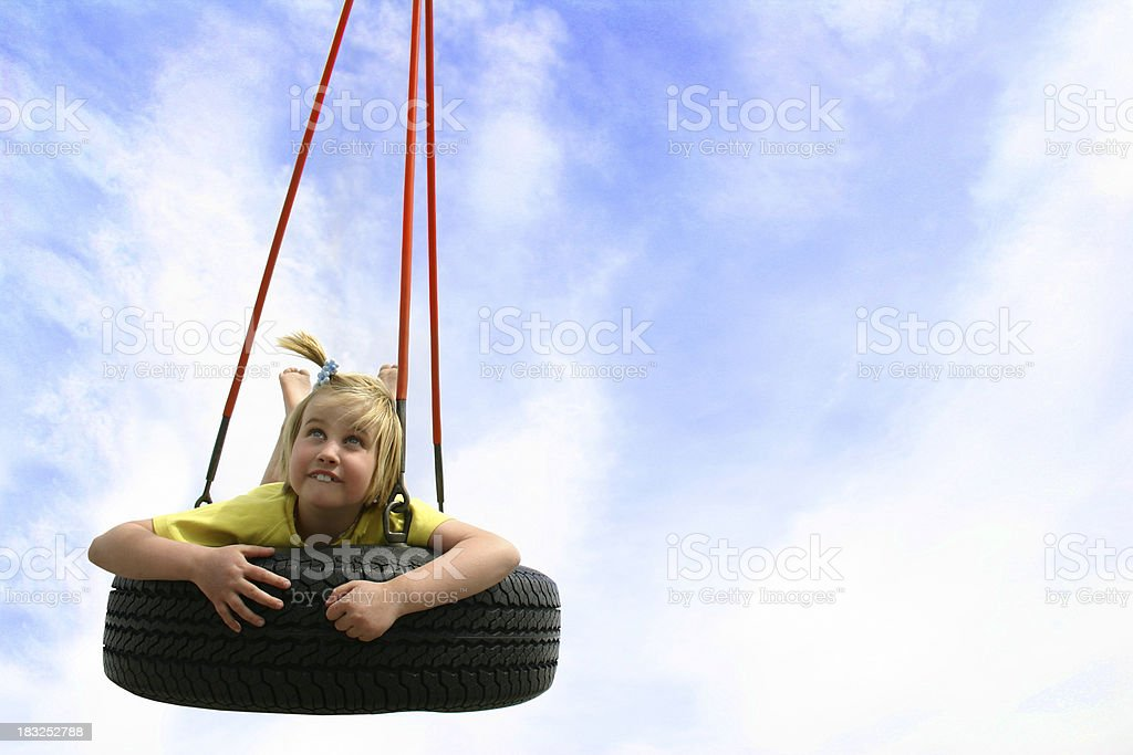 Summer swing royalty-free stock photo