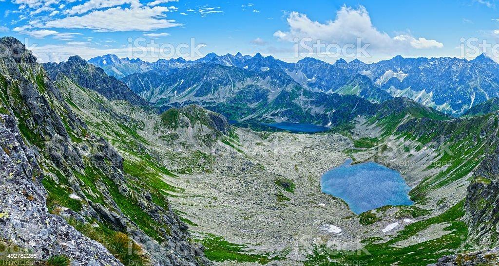 Summer Tatra Mountain panorama, Poland stock photo