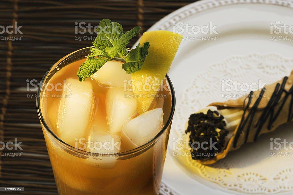 Summer Tea & Cannoli stock photo