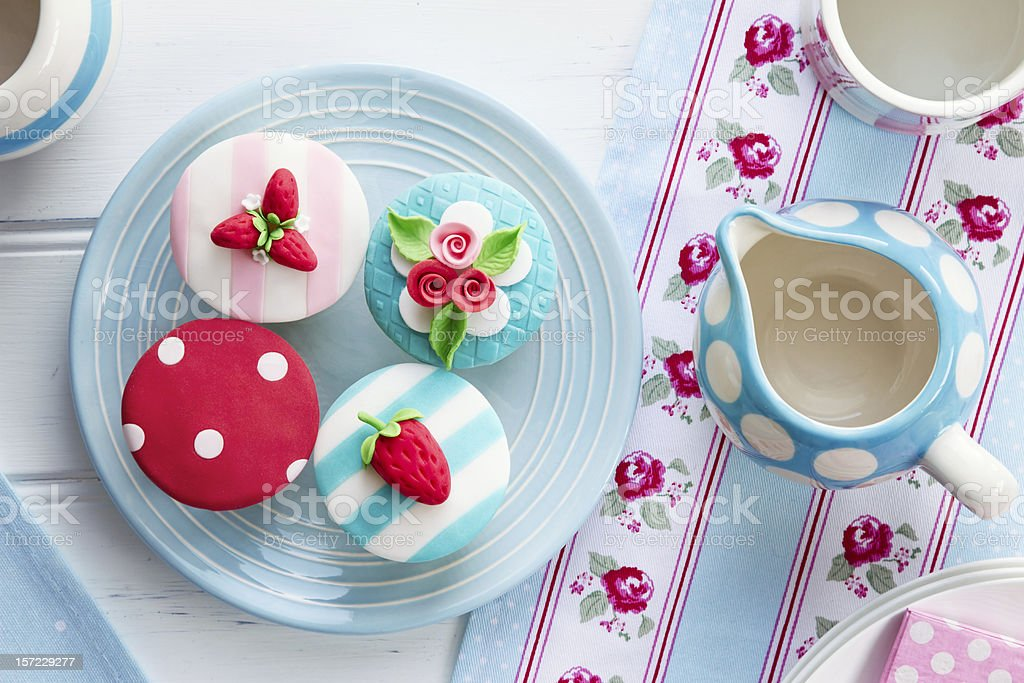 Summer tea party stock photo