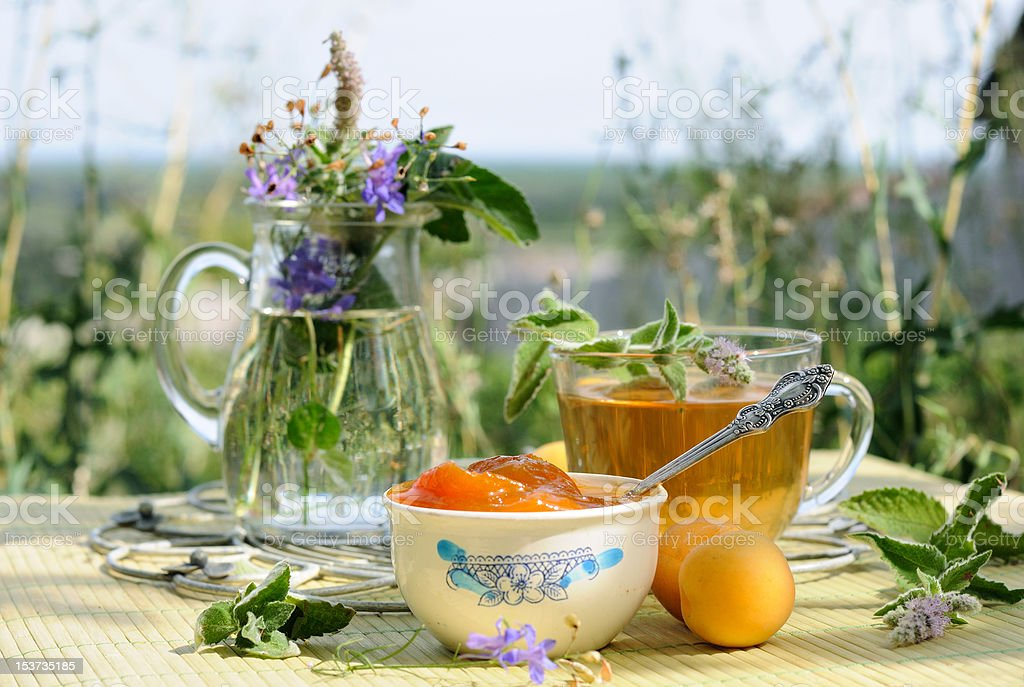 Summer tea time royalty-free stock photo