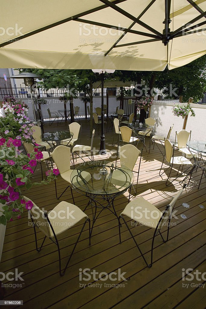 Summer Terrace royalty-free stock photo
