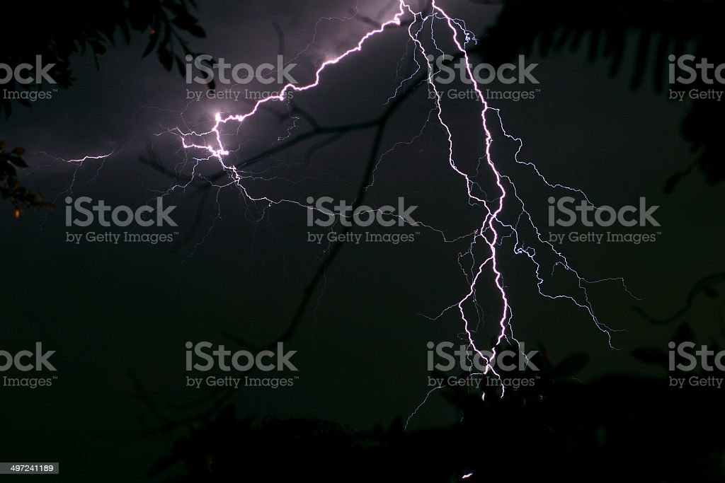 Summer thunderstorm in the Southern California stock photo