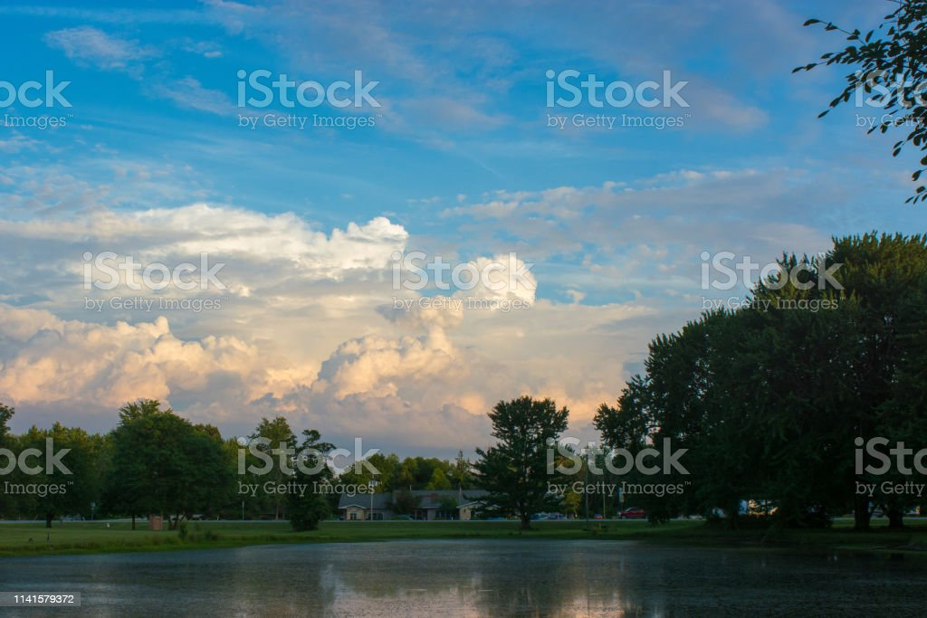 Summer time storm clouds stock photo