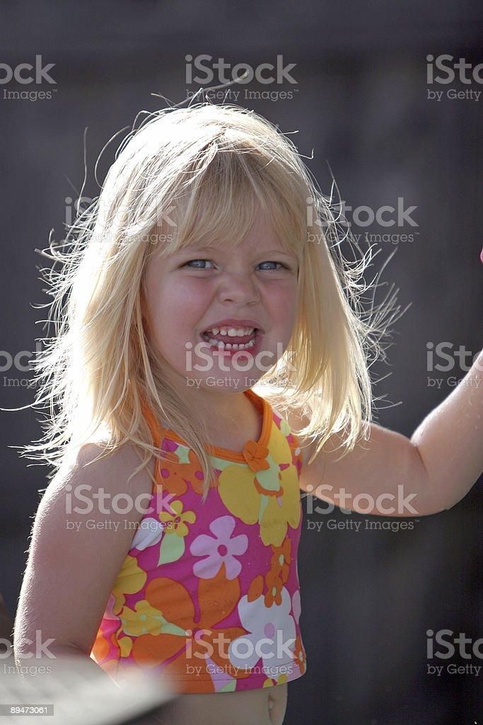 Summer Toddler Girl stock photo
