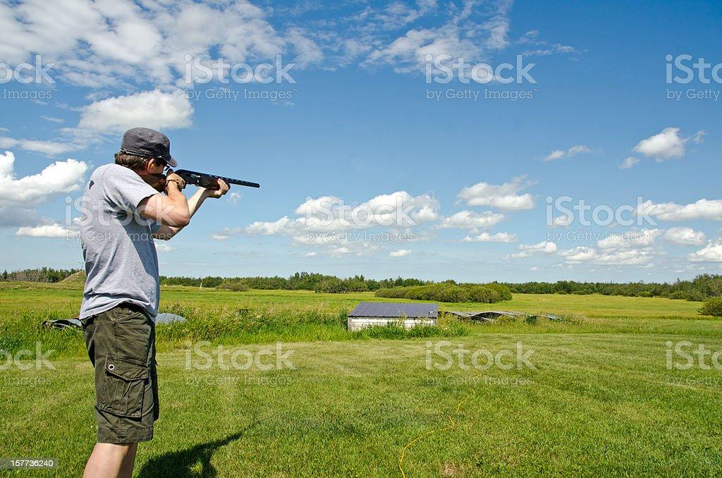 Summer Trap Shooting stock photo