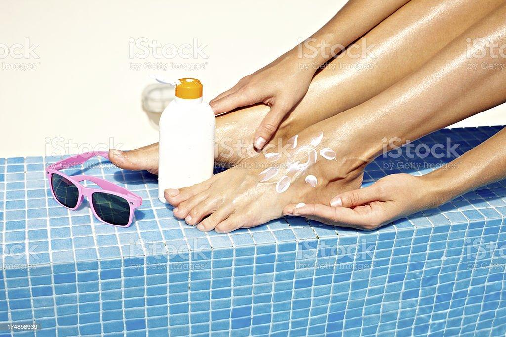 Summer treatment royalty-free stock photo