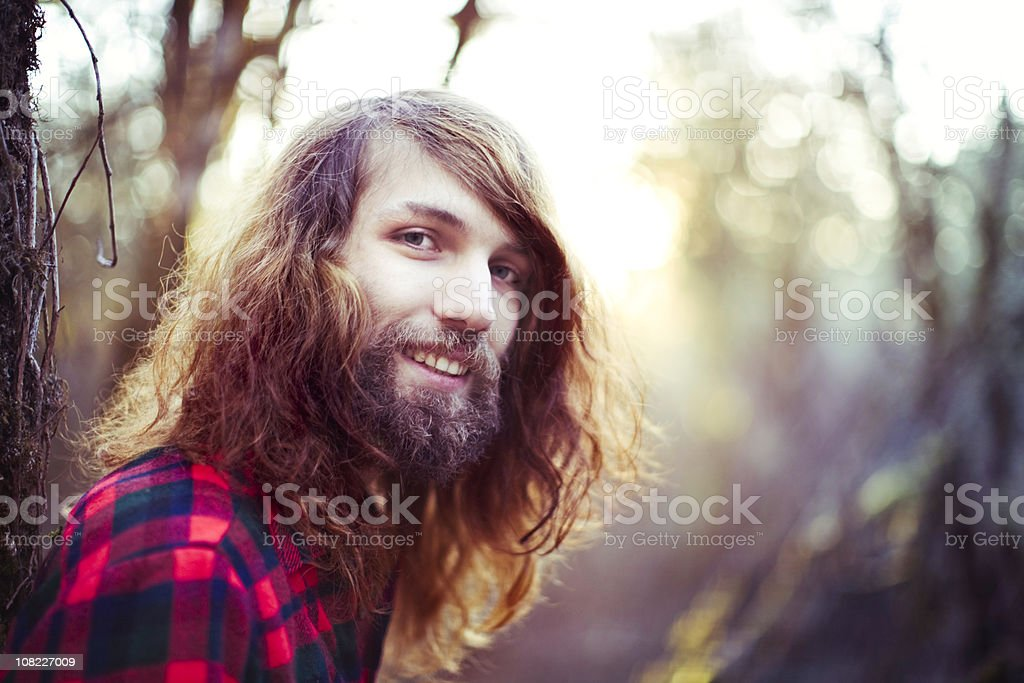 Summer Trendy Smiling Young Man stock photo