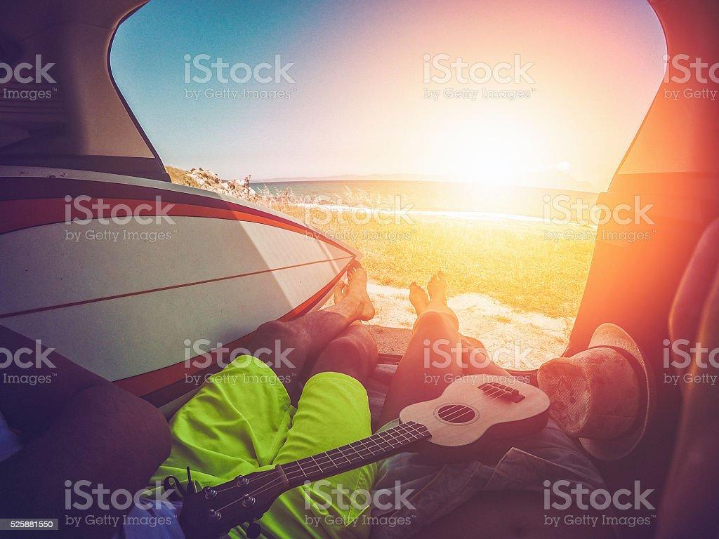 Summer trip stock photo