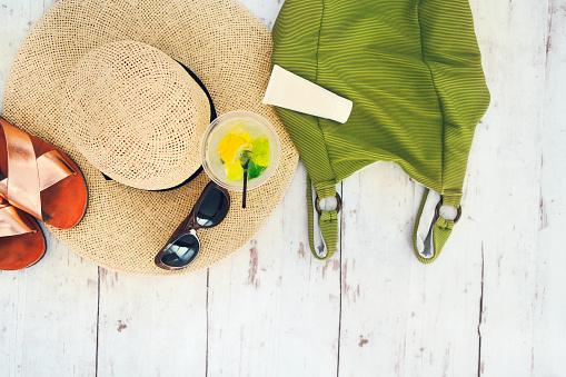 Foto de Acessórios De Férias De Verão Vista Superior e mais fotos de stock de Acessório