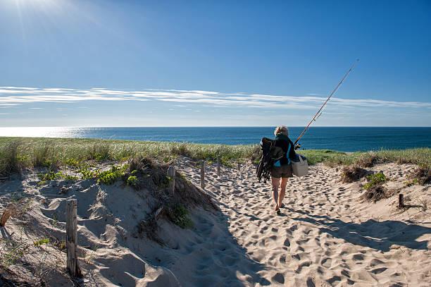 Summer vacation at Cape Cod stock photo
