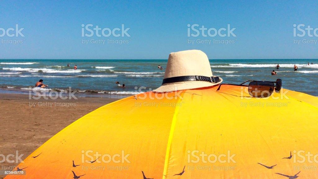 Summer vacation at sea, beach stock photo