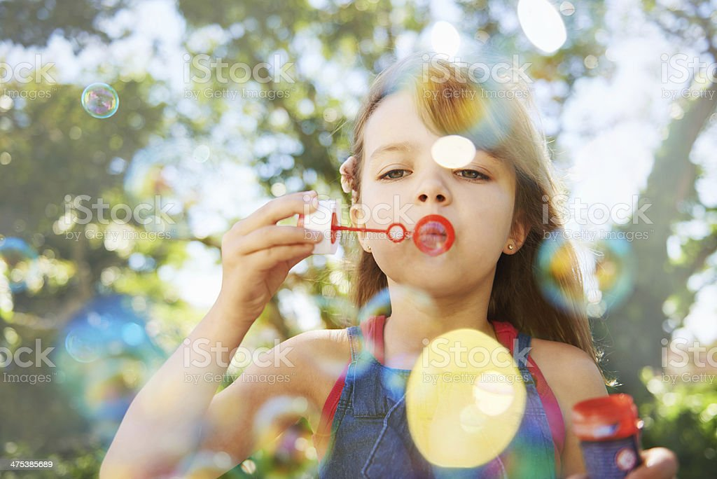Summer vacation bubbles stock photo