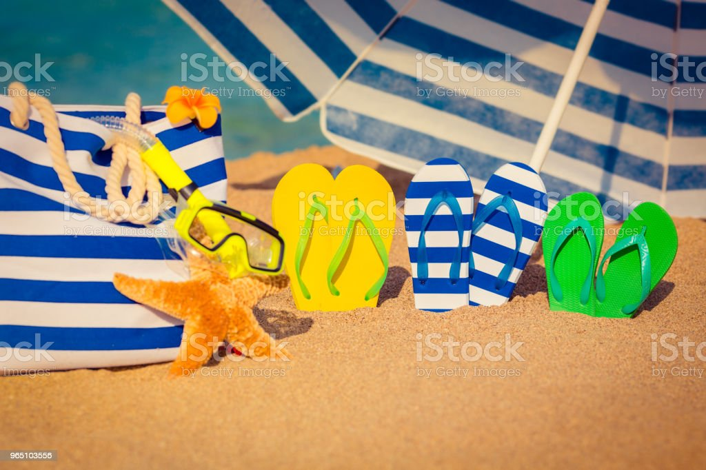 Summer vacation concept zbiór zdjęć royalty-free