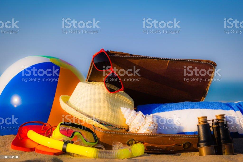 Summer vacation concept zbiór zdjęć royalty-free