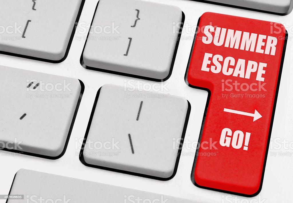Summer vacation escape stock photo