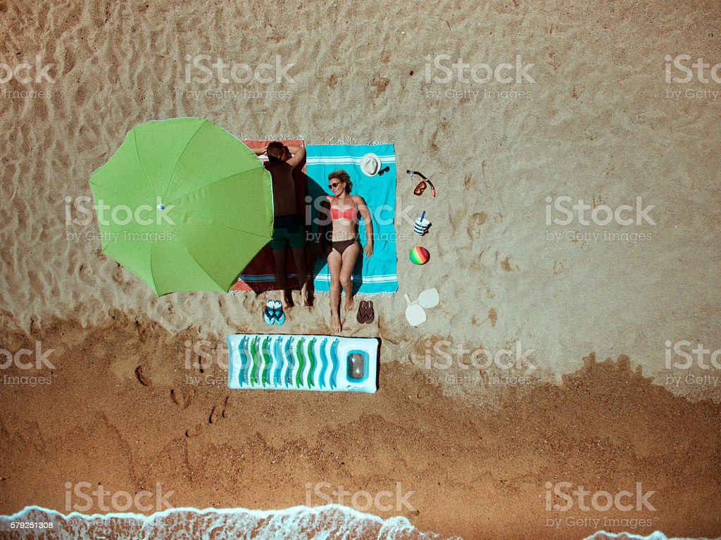 Summer vacation essentials stock photo