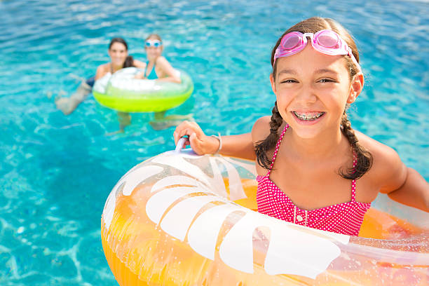 Summer vacation fun stock photo