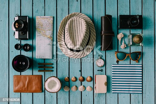 istock Summer vacation things neatly organised 579160838