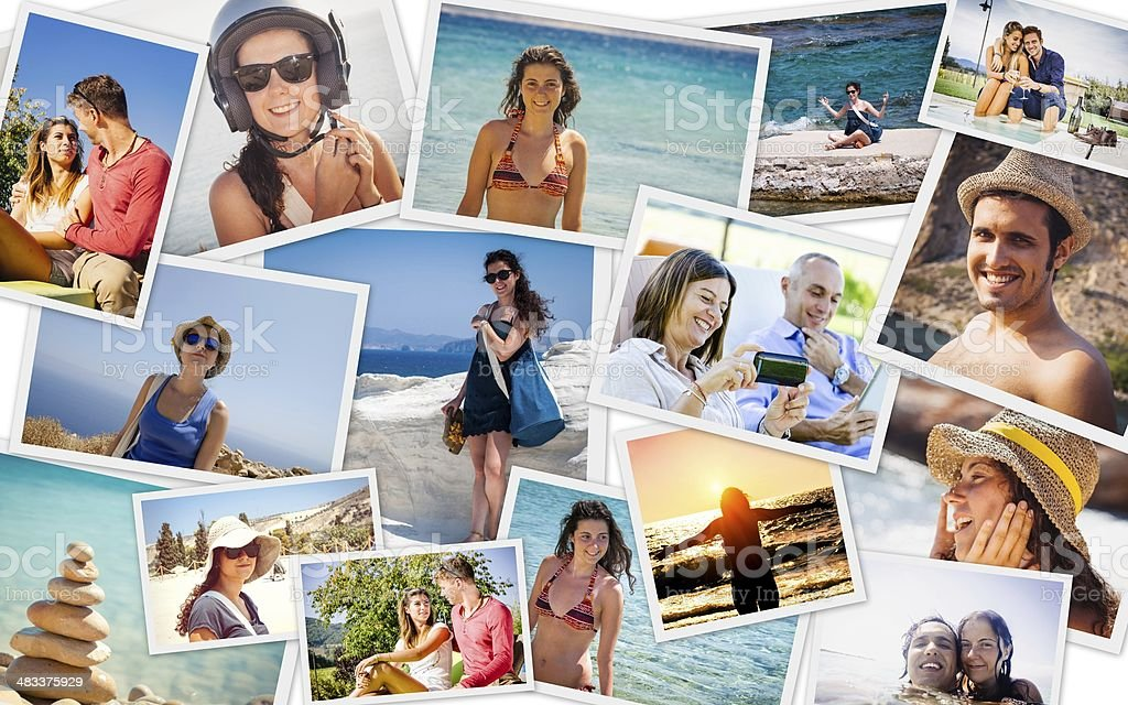 Summer Vacations Collage stock photo