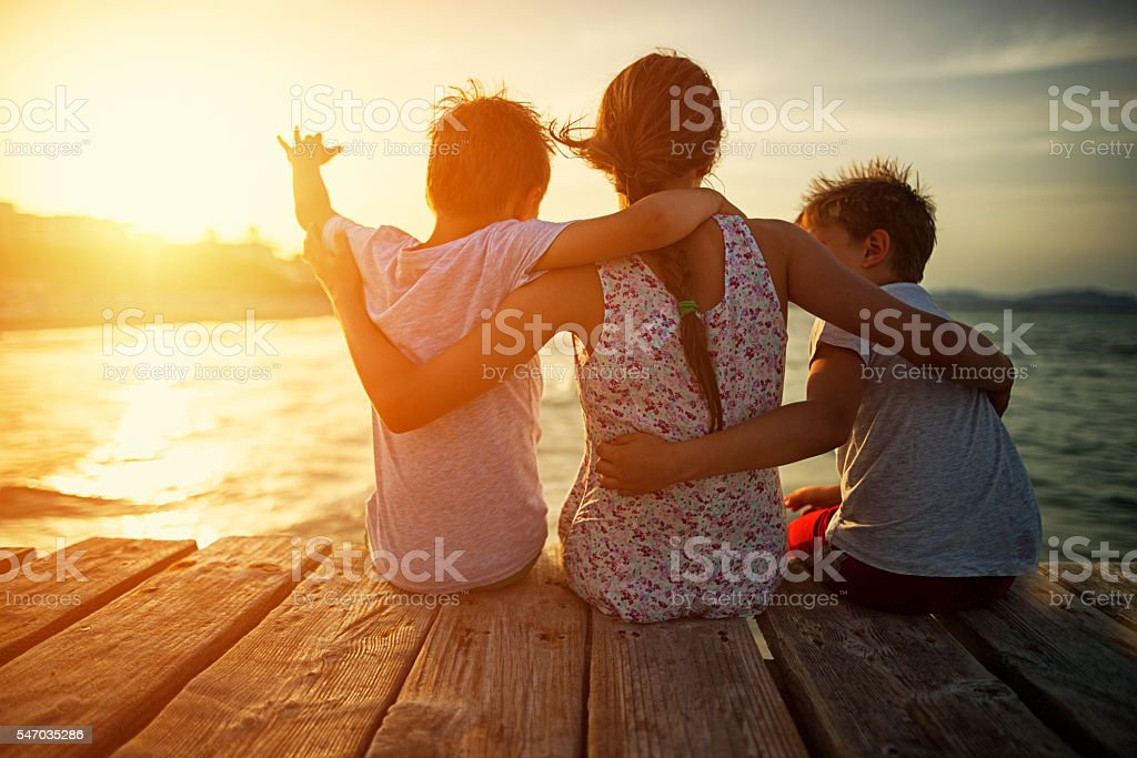 Summer vacations stock photo