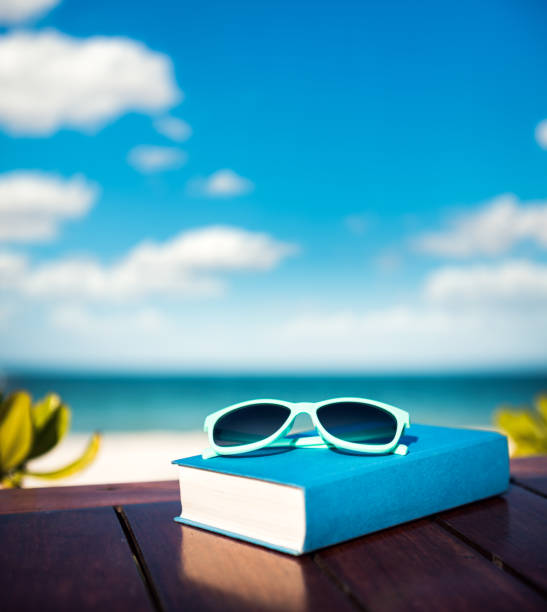 Summer Vacations With Good Book stock photo
