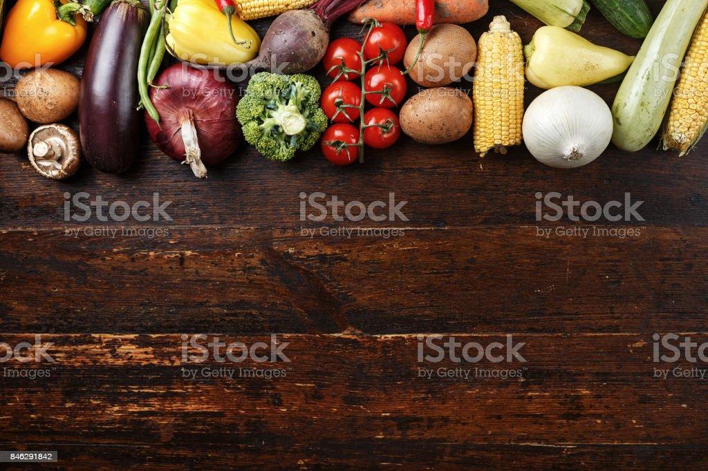 Sommer-Gemüse-Hintergrund – Foto