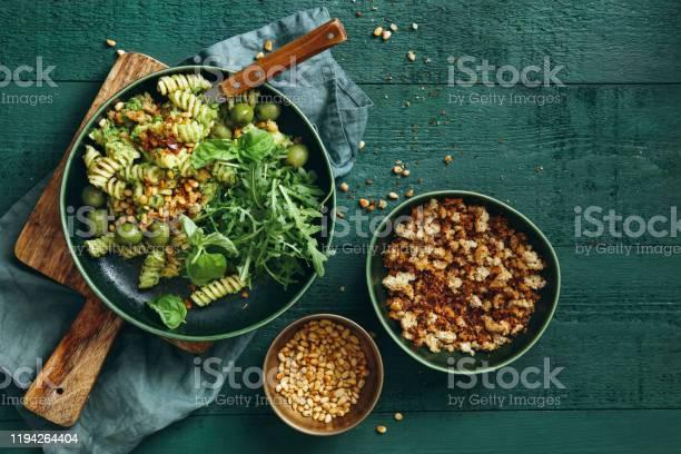 Photo of Summer vegetarian pasta salad with broccoli pesto