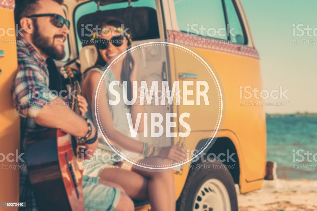 Summer vibes. stock photo