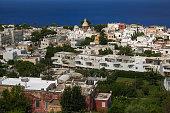 Summer view of Anacapri city