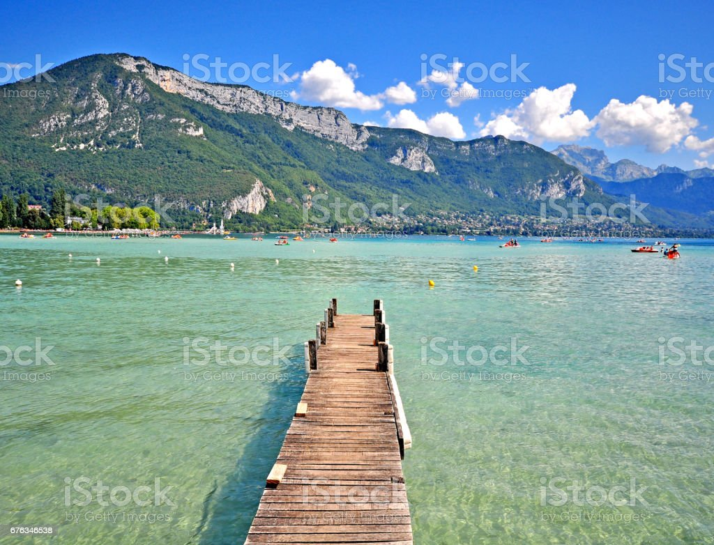 Summer view of Annecy lake - Photo