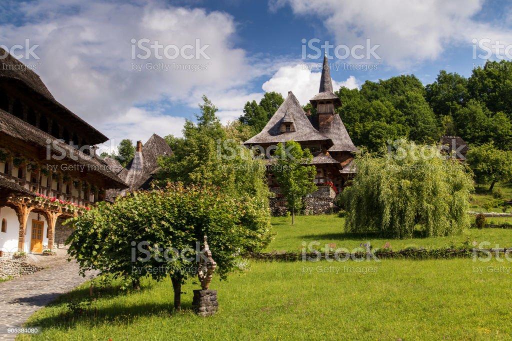 Summer view of Barsana Monastery zbiór zdjęć royalty-free