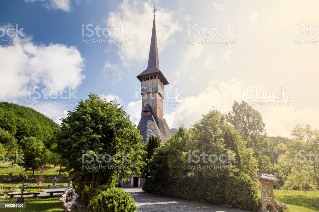 Summer view of Barsana Monastery royalty-free stock photo