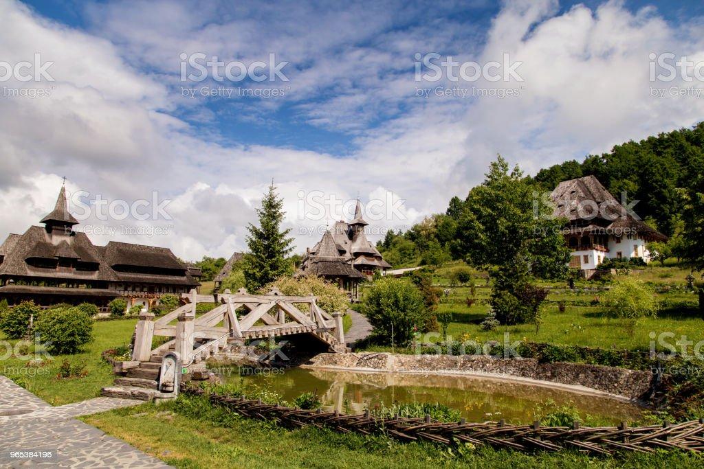 Summer view of Barsana Monastery stock photo