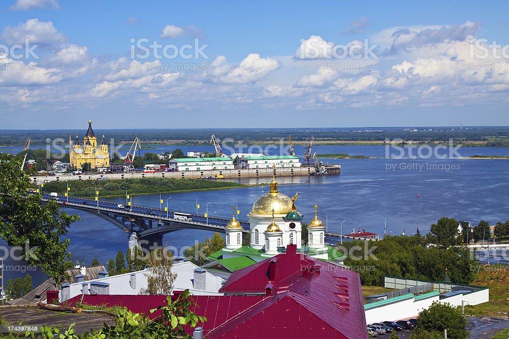 Summer view of Nizhny Novgorod. Russia royalty-free stock photo