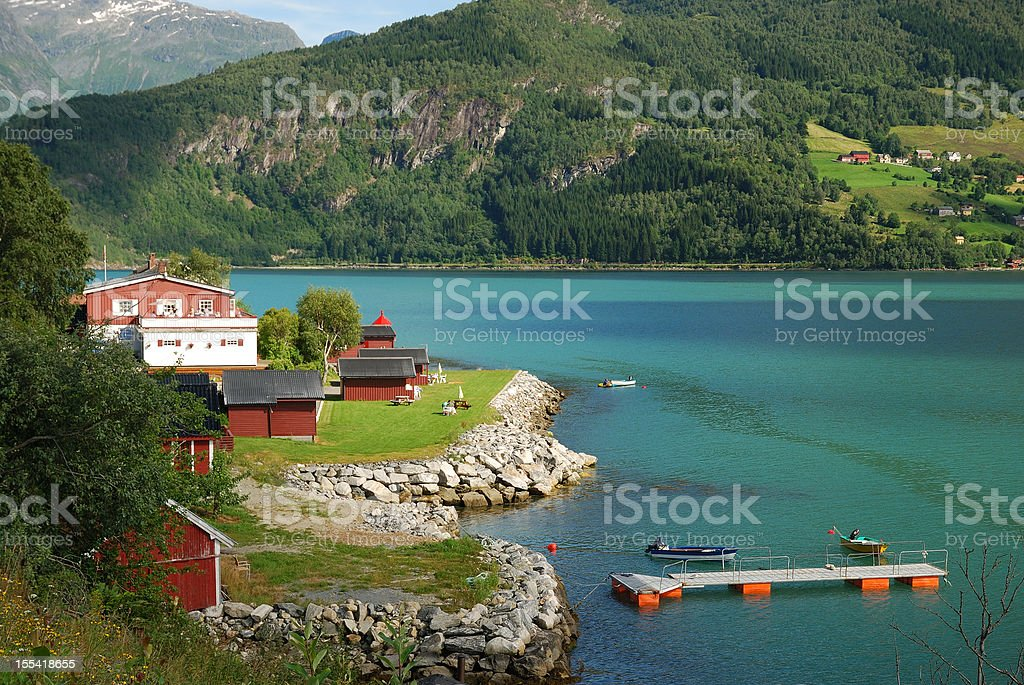Summer view of Southern Norway stock photo