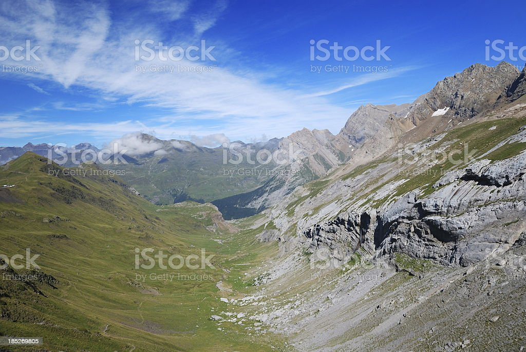Summer view of the central Pyrenees. stock photo