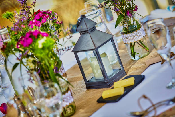 Hochzeit im Sommer in der britischen Landschaft – Foto
