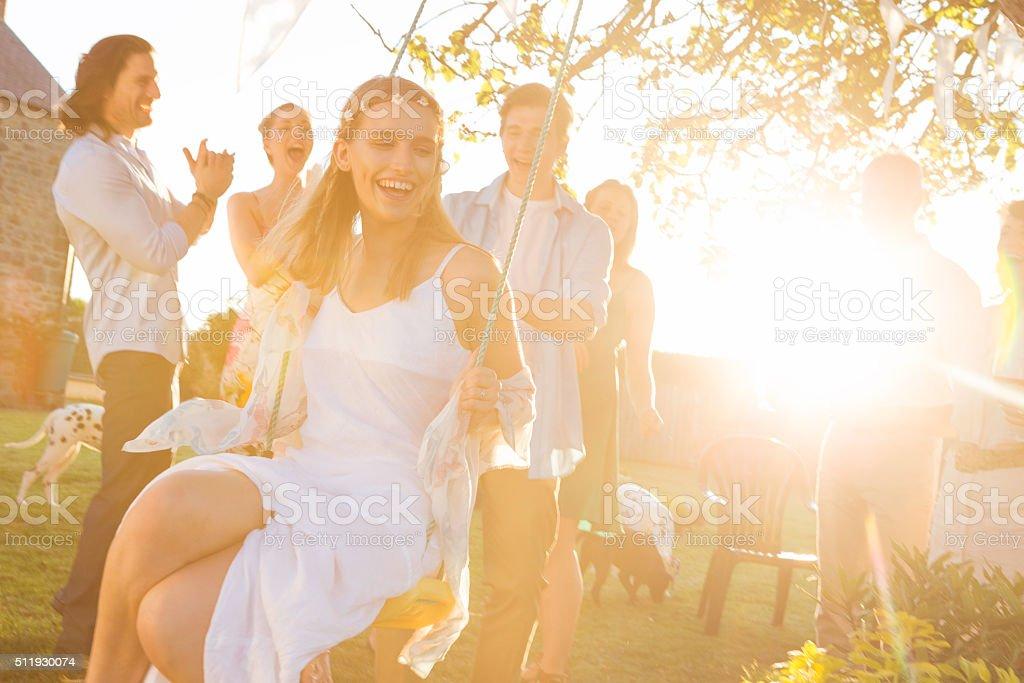 Summer Wedding Reception stock photo