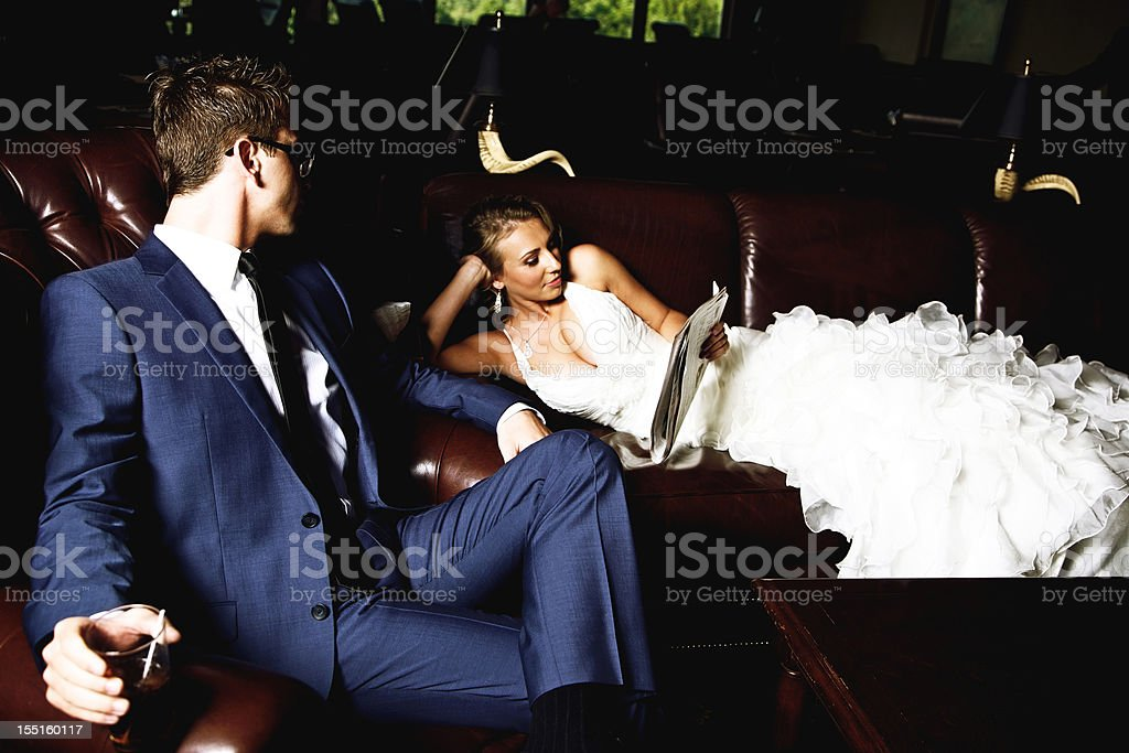 summer wedding young couple royalty-free stock photo