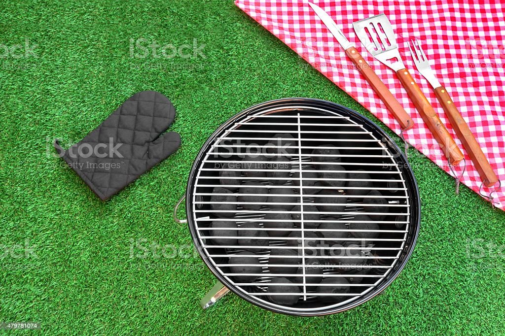 Summer Weekend Or Holiday BBQ Grill Party Or Picnic Concept stock photo