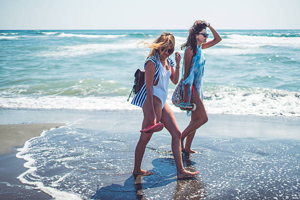 Summer with a friend stock photo