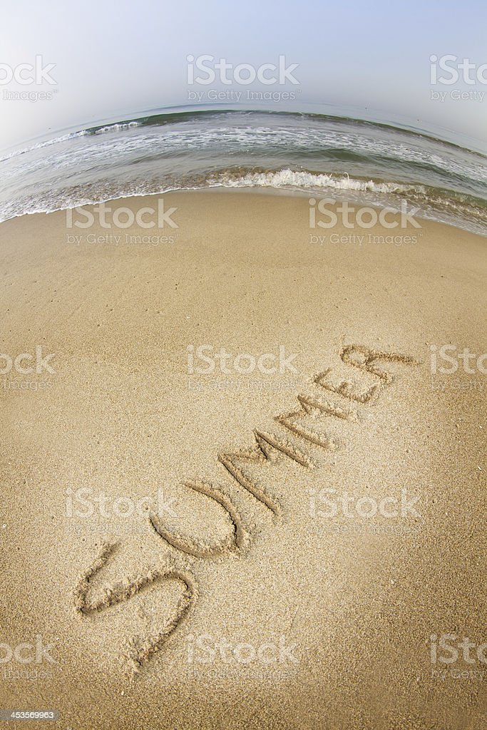 Summer with fish eye royalty-free stock photo
